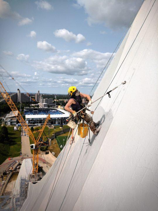 La tour du Stade, un chantier olympique